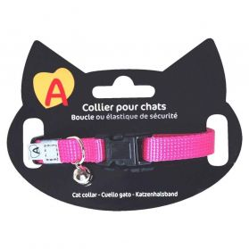 Animalis - Collier Basic pour Chat - Fushia