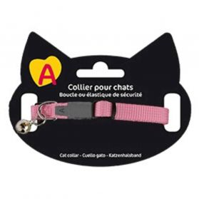 Animalis - Collier Basic pour Chat - Rose