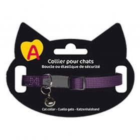 Animalis - Collier Basic pour Chat - Violet