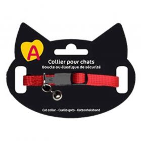 Animalis - Collier Basic pour Chat - Rouge