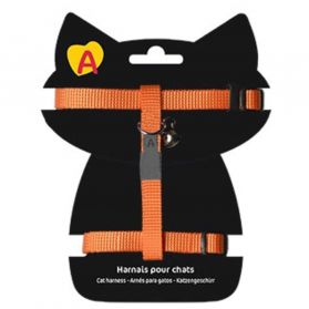 Animalis - Harnais Basic pour Chat - Orange
