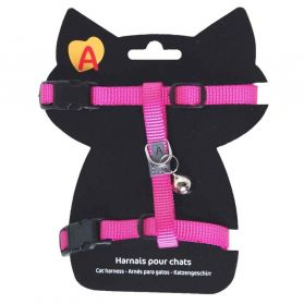 Animalis - Harnais Basic pour Chat - Fushia