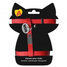 Animalis - Harnais Basic pour Chat - Rouge