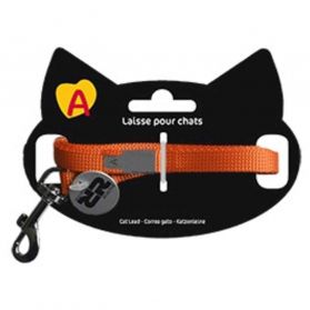 Animalis - Laisse Basic de 1,2m pour Chat - Orange