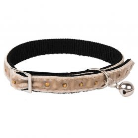 Animalis - Collier Strass pour Chat - Beige