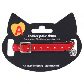 Animalis - Collier Strass pour Chat - Rouge