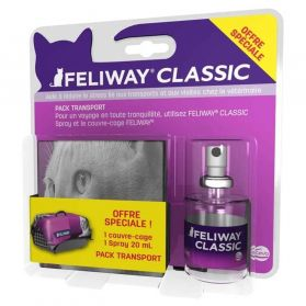 Feliway Classic - Travel Pack Spray + Couvre-cage pour Chat - 20ml