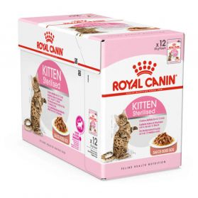 Royal Canin - Sachets Kitten Sterilised en Sauce pour Chaton - 12x85g