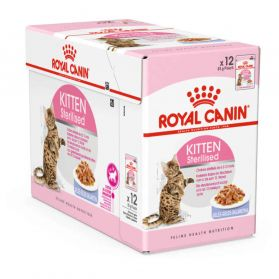 Royal Canin - Sachets Kitten Sterilised en Gelée pour Chaton - 12x85g