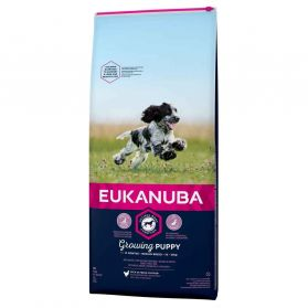 Eukanuba - Croquettes Growing PUPPY Medium Poulet pour Chien - 12Kg