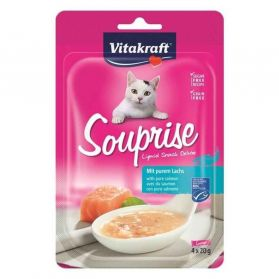 Vitakraft - Souprise Liquid Snack Saumon pour Chat - 4x20g