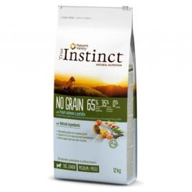 True Instinct - Croquettes No Grain Adult Medium Maxi au Saumon pour Chiot - 12Kg
