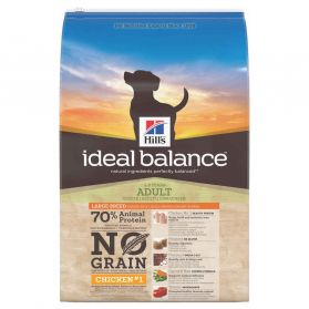 Hill's - Croquettes Ideal Balance No Grain Large au Poulet pour Chiens - 12Kg