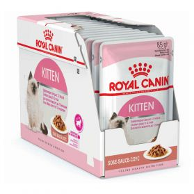 Royal Canin - Sachets Kitten Instinctive en Sauce pour Chat - 12x85g