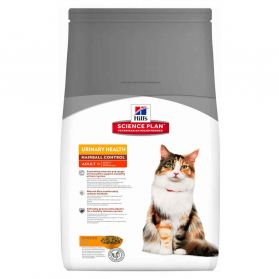 Hill's Science Plan - Croquettes Urinary & Hairball au Poulet pour Chat - 1,5Kg