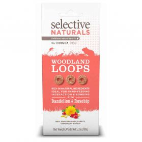 Supreme Science - Selective Naturals Woodland Loops pour Rongeurs - 80g