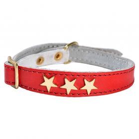 Bobby - Collier Chat Etoiles rouge