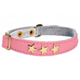 Bobby - Collier Chat Etoiles rose