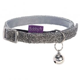 Bobby - Collier Chat Disco argent XS