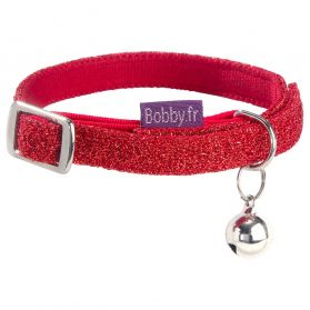 Bobby - Collier Chat Disco rouge XS