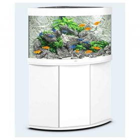 Juwel - Aquarium TRIGON 190 LED 2x14W avec Meuble - Blanc