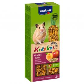 Vitakraft - Friandises Kräcker aux Fruits et Flocon pour Hamsters - x2