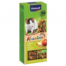 Vitakraft - Friandises Kräcker au Pop-corn et Fruits pour Rats - x2