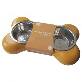 Hing - Bol double The Bone Moutarde pour Chien - 2x500ml