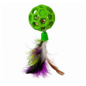 JW - Jouet Cataction Feather Ball Withbell pour Chat