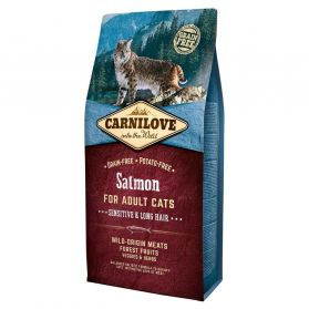 Carnilove - Croquettes Sensitive Long Hair Saumon pour Chat