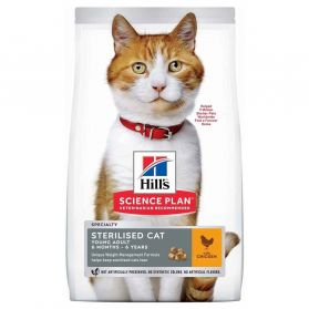 Hill's - Feline Sterilised Cat Young Adult Poulet pour Chat - 3Kg