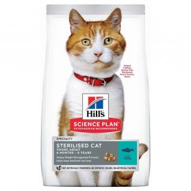 Hill's - Feline Young Sterilised Cat Adult Thon pour Chat - 3Kg