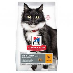 Hill's - Feline Sterilised Cat Mature Adult 7+ Poulet pour Chat - 3Kg