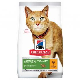 Hill's - Feline Adult 7+ Youthful Vitality Poulet pour Chat - 7Kg