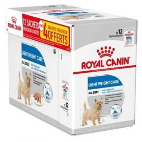 Royal Canin - Sachets Light Weight Care en Mousse pour Chien - 12x85g DONT 4 GRATUITS