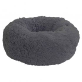 Wouapy - Corbeille Ronde Moelleuse Gris pour Chat - T50