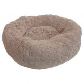 Wouapy - Corbeille Ronde Moelleuse Beige pour Chat - T50