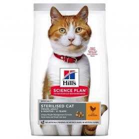 Hill's Science Plan - Croquettes Sterilised Young Adult Poulet pour Chat