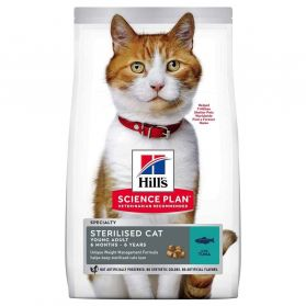 Hill's Science Plan - Croquettes Sterilised Young Adult Thon pour Chat - 1,5Kg