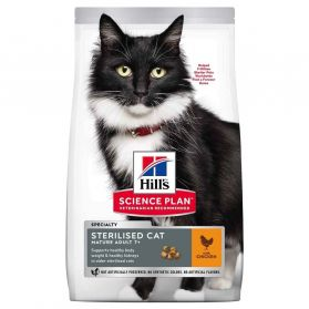 Hill's Science Plan - Croquettes Sterilised Mature 7+ Poulet pour Chat