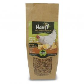 Naoty - Aliment ONE INSECT PREMIUM Insectes Soufflés pour Basse-cour - 380g