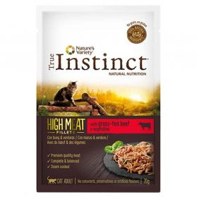 True Instinct - Pochon High Meat Bœuf pour Chat - 70g