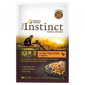 True Instinct - Pochon High Meat Poulet pour Chat - 70g