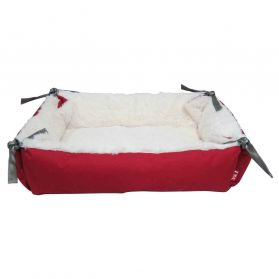 Topzoo - Panier Square Rouge pour Chat - S