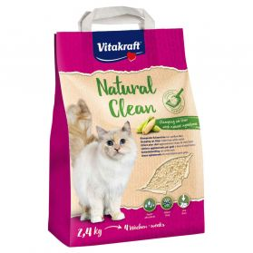 Vitakraft - Litière Natural Clean Maïs pour Chat - 2,4Kg