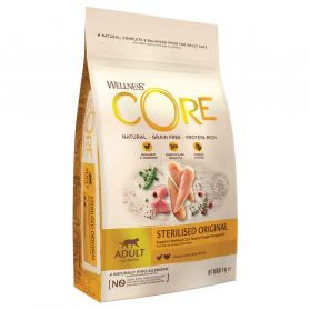 Wellness CORE - Croquettes Sterilised au Saumon pour Chat - 4Kg