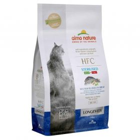 Almo Nature - Croquettes HFC Longevity Sterilised à la Dorade et au Bar Frais pour Chat Senior - 300g