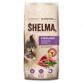 Shelma - Croquettes Sterilised Instinctively Perfect au Boeuf pour Chat - 8Kg